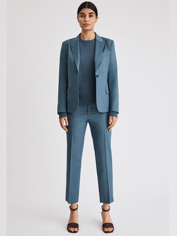 A0998-Sasha-Cool-Wool-Blazer-Filippa-K-Blue-Grey-Front-Full-Body