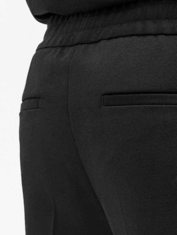B1046-Terry-Gabardine-Cropped-Trouser-Filippa-K-Black-close-up-fabric