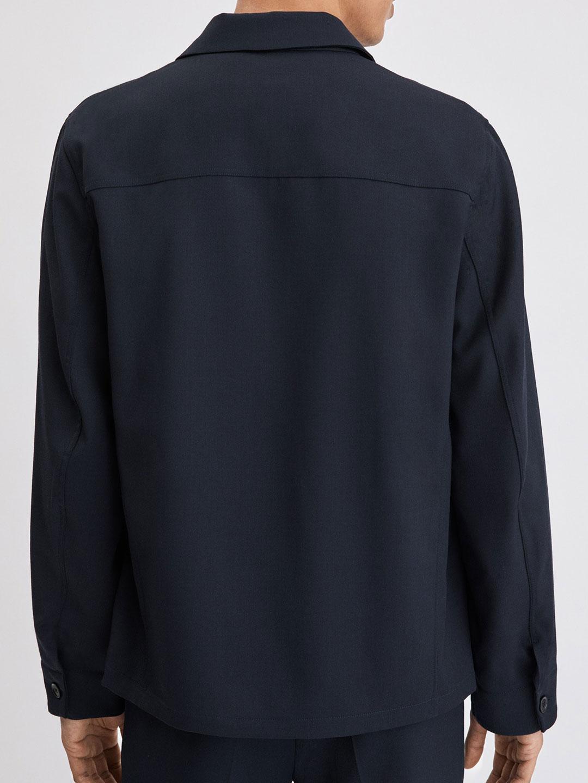 B1180-Louis-Gabardine-Jacket-Filippa-K-Dk-Navy-Back