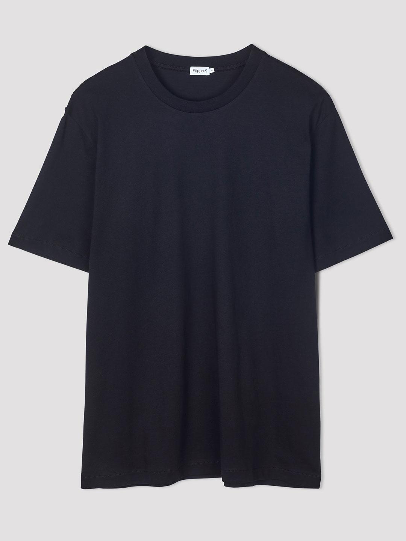 B1231-Single-Jersey-Tee-Filippa-K-Black-flat-lay