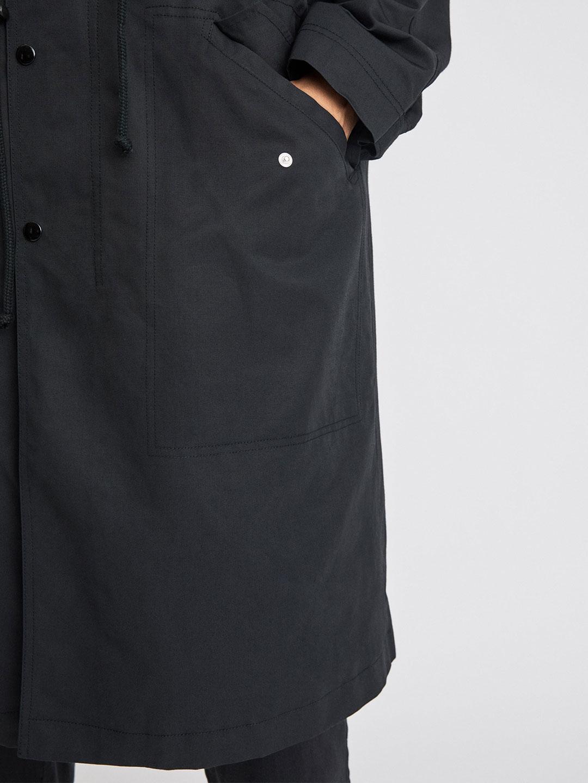 B1281-Vancouver-Coat-Filippa-K-Black-Front-Close-up