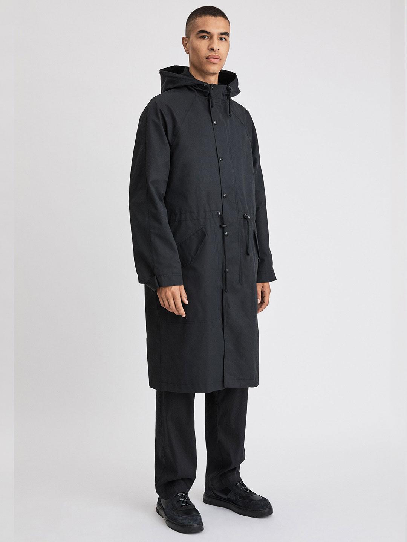 B1281-Vancouver-Coat-Filippa-K-Black-Front-Full-Body