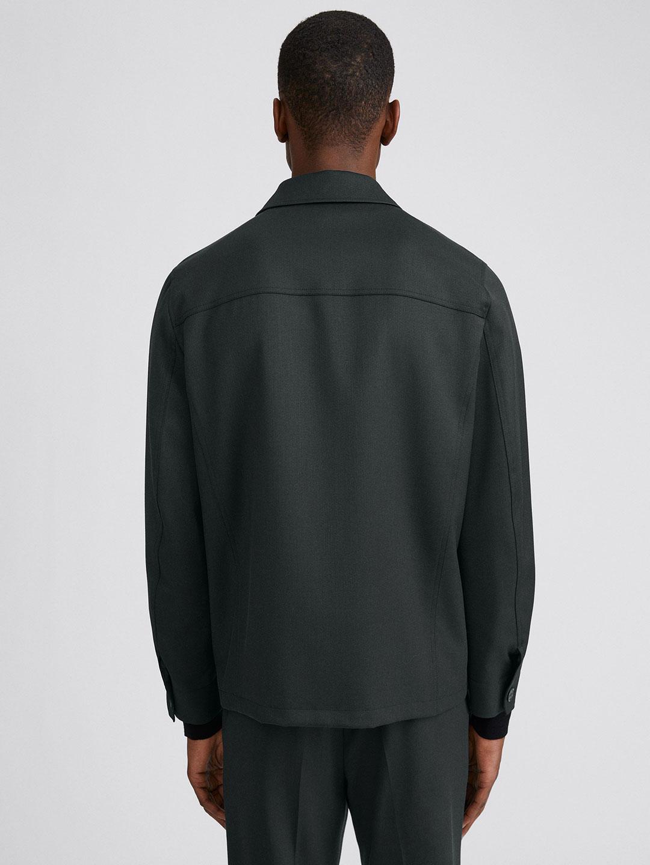 B1352-Louis-Gabardine-Jacket-Filippa-K-Dark-Spruce-Back