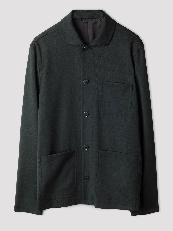 B1352-Louis-Gabardine-Jacket-Filippa-K-Dark-Spruce-Front-Flat-Lay