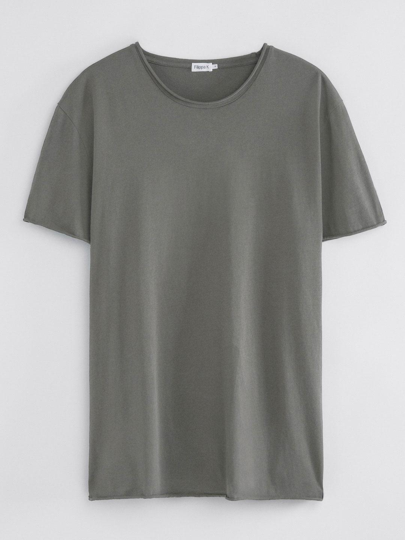 B1353-Roll-Neck-Tee-Filippa-K-Green-Grey-Front-Flat-Lay