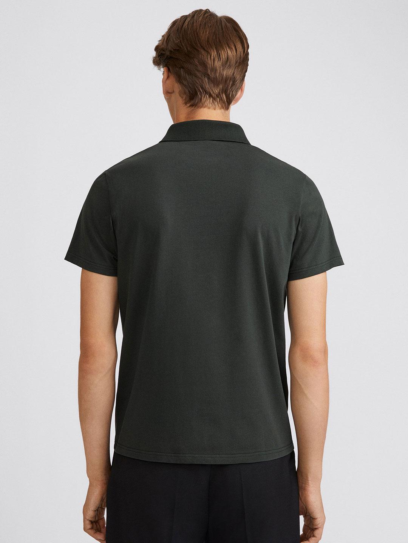 B1355-Lycra-Polo-T-Shirt-Filippa-K-Dark-Spruce-Back