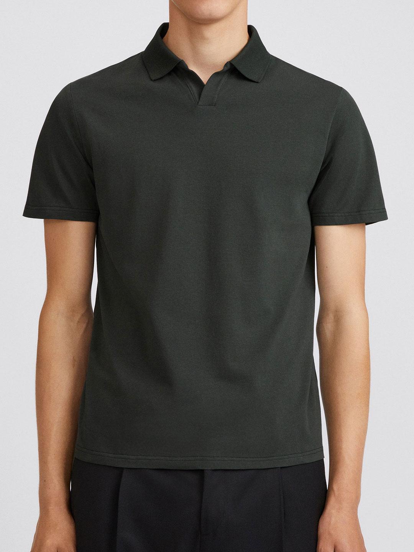 B1355-Lycra-Polo-T-Shirt-Filippa-K-Dark-Spruce-Front