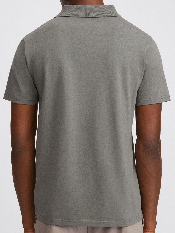 B1355-Lycra-Polo-T-Shirt-Filippa-K-Green-Grey-Back