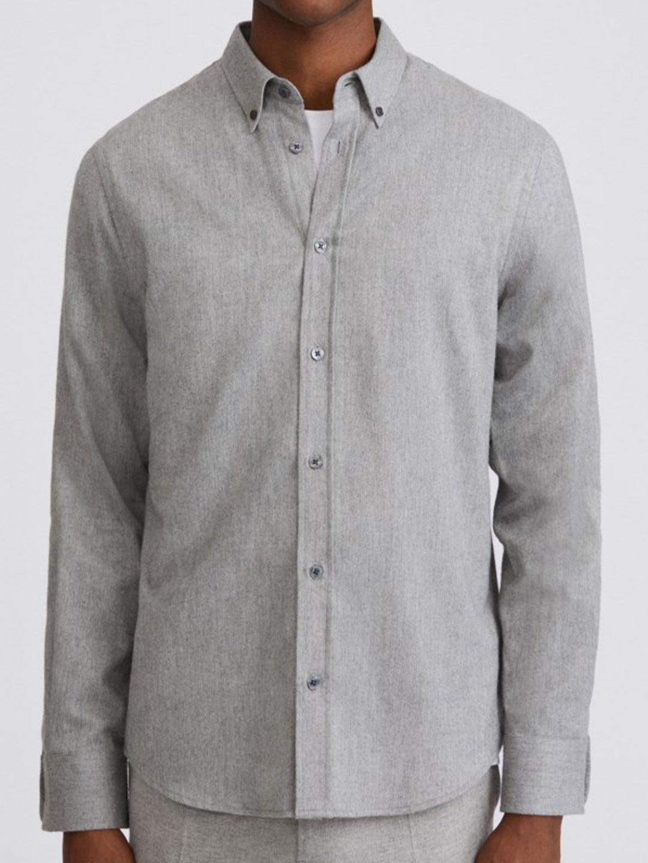 B1362-Lewis-Flannel-Shirt-Filippa-K-Grey-Melange-Front