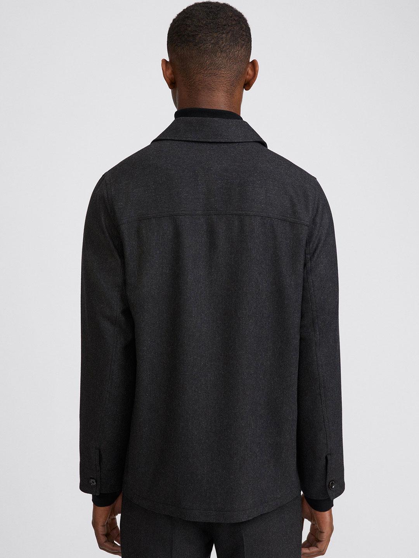 B1365-Louis-Flannel-Jacket-Filippa-K-Dk-Grey-Melange-Back