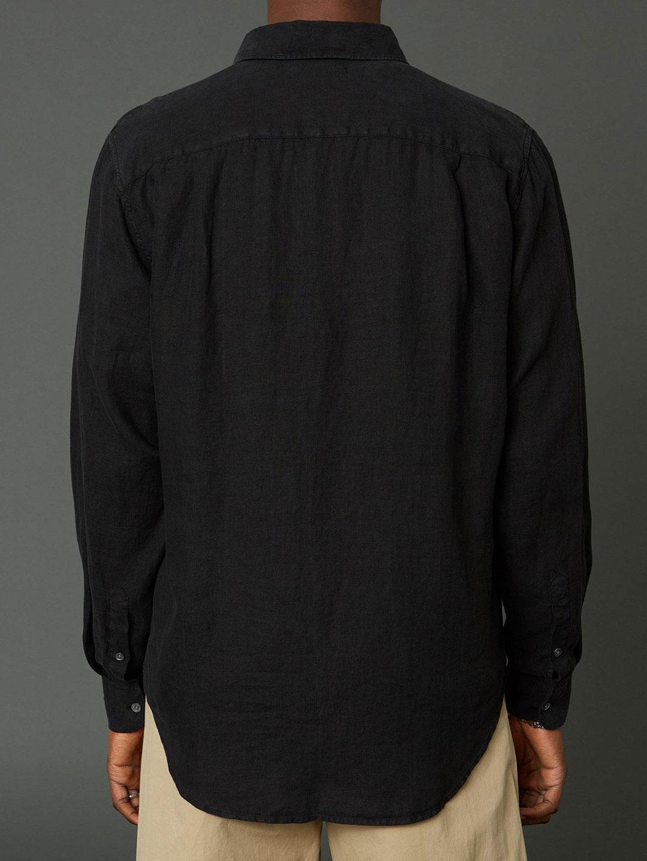 B1388-Air-Clean-Linen-Shirt-Hope-Sthlm-Black-Back-Fabric
