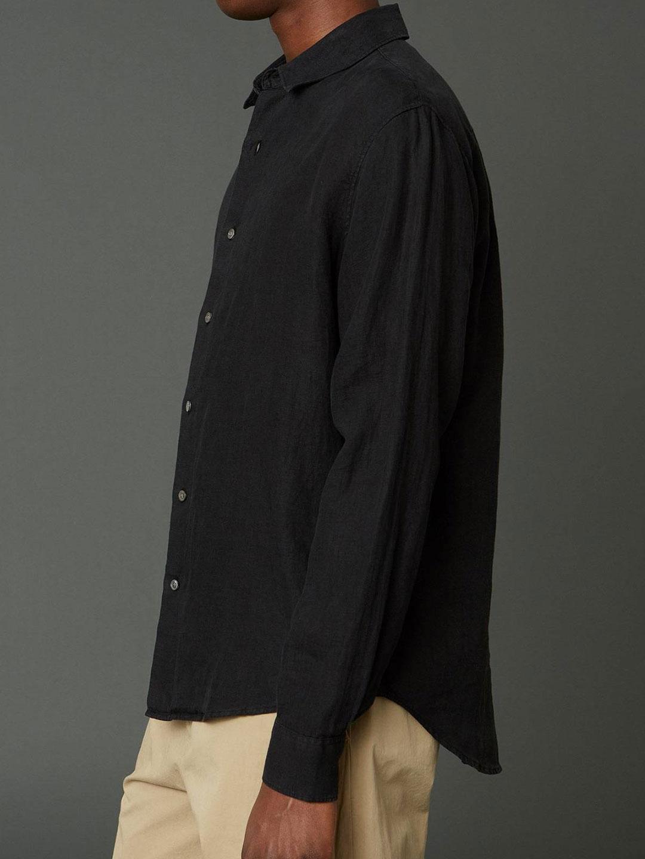 B1388-Air-Clean-Linen-Shirt-Hope-Sthlm-Black-Side