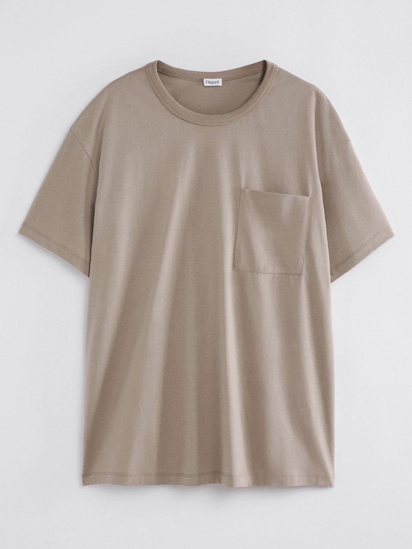 B1399-Brad-T-Shirt-Filippa-K-Desert-Taupe-Front-Flat-Lay