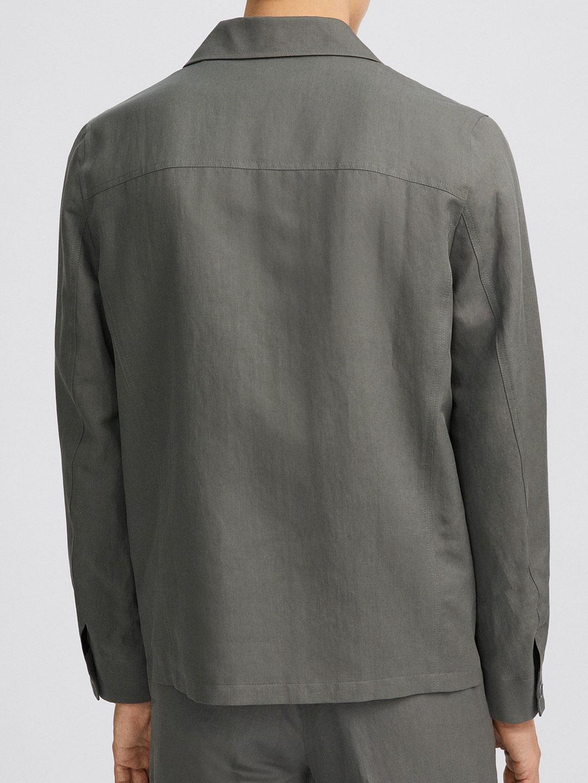 B1406-Louis-Linen-Jacket-Filippa-K-Green-Grey-Back