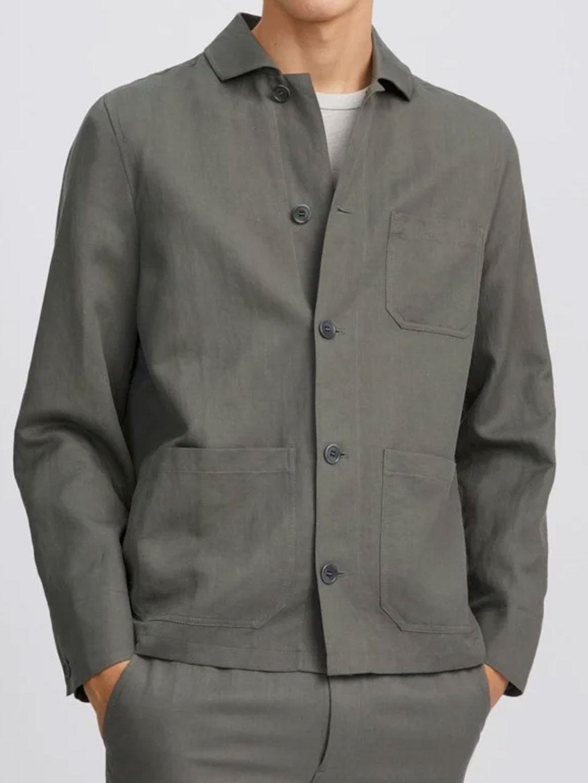 B1406-Louis-Linen-Jacket-Filippa-K-Green-Grey-Front
