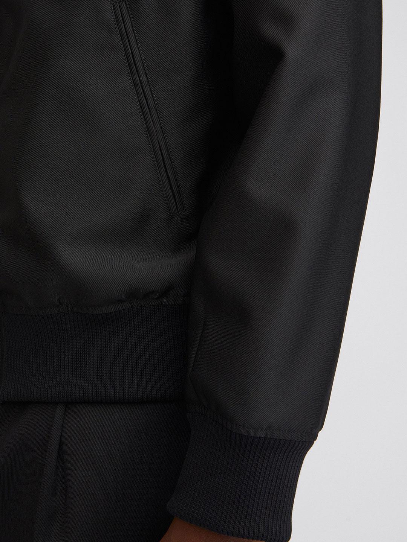 B1410-Brooklyn-Bomber-Jacket-Filippa-K-Black-Front-Close-Up-Sleeve