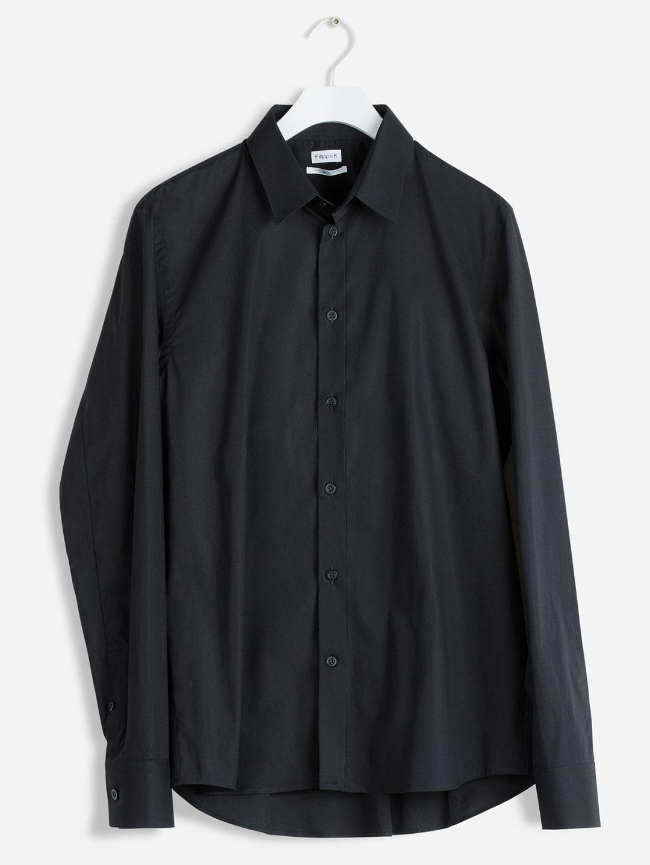 S0008-Paul-Stretch-Shirt-Filippa-K-Black-flat-lay