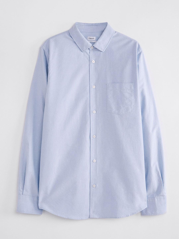 S0014-Tim-Oxford-Shirt-Filippa-K-Lt-Blue-2-Front-Flat-Lay