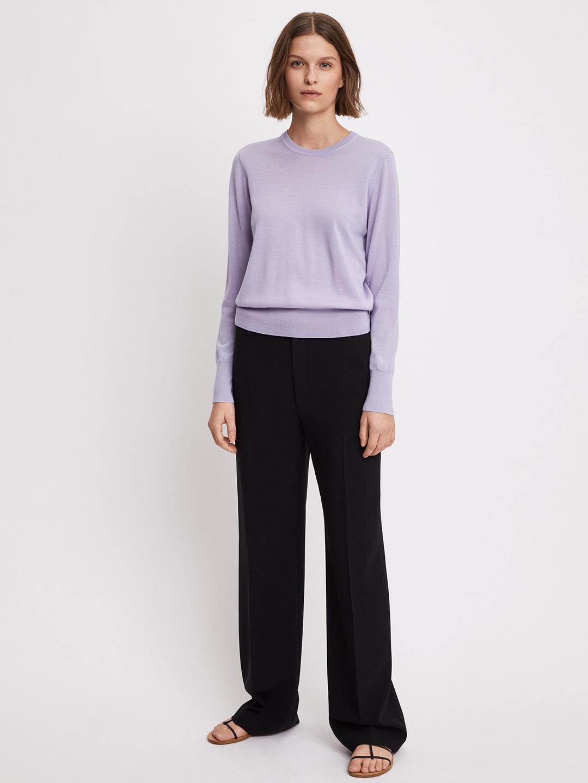 S0118-Merino-R-neck-Sweater-Filippa-K-Hyacinth-Full-Body-Front